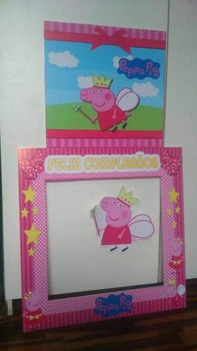 marco para fiesta + cuadro + stiker de regalo