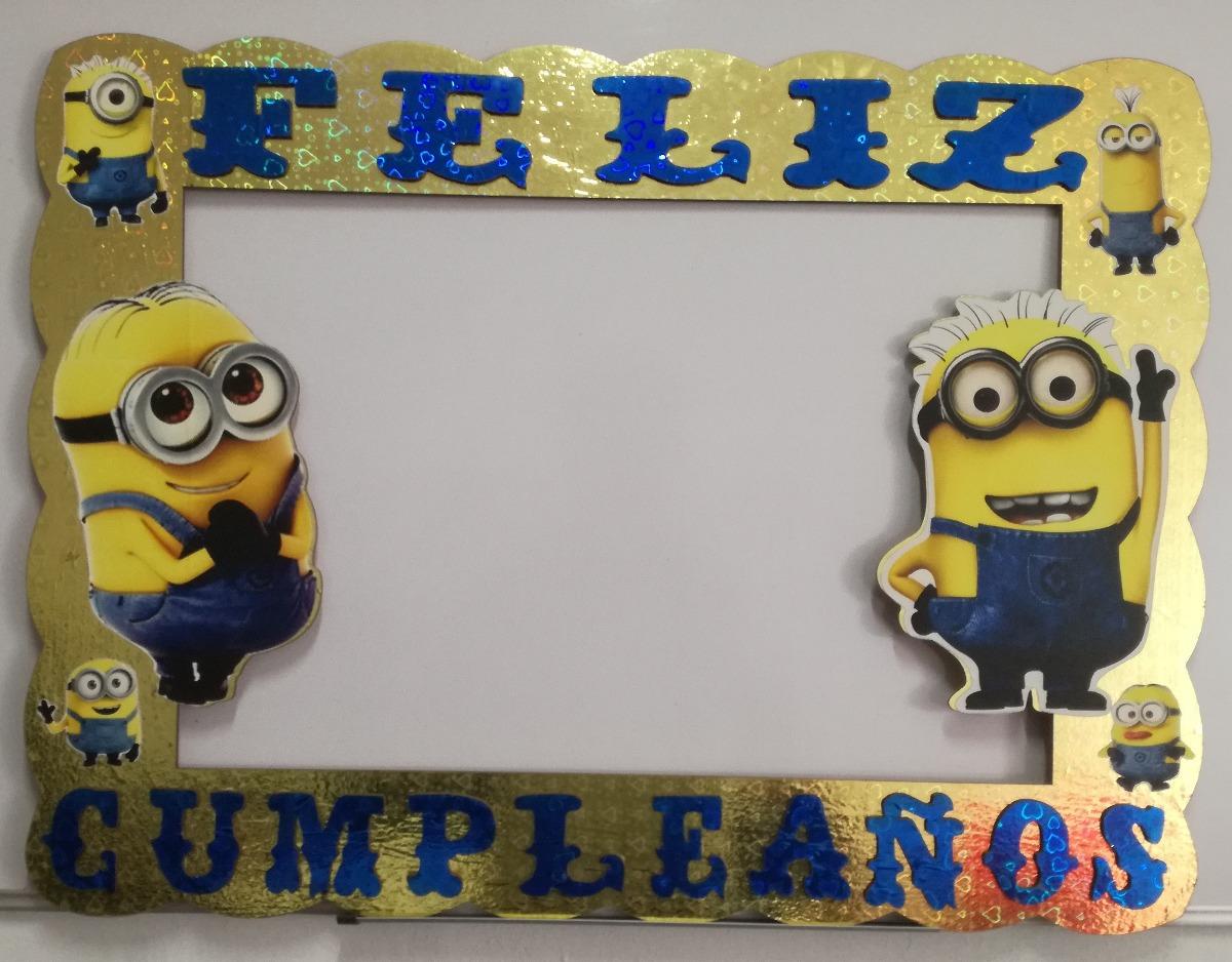 Marco Para Fotos Minions Feliz Cumpleaños - $ 149.00 en Mercado Libre