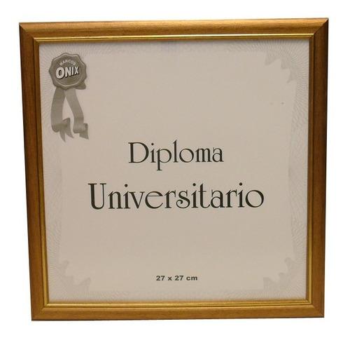marco para título profesional de udelar 137 dorado