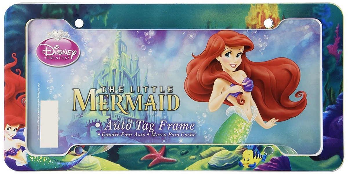 Marco Porta Placa Auto Disney The Little Mermaid Chroma - $ 399.00 ...