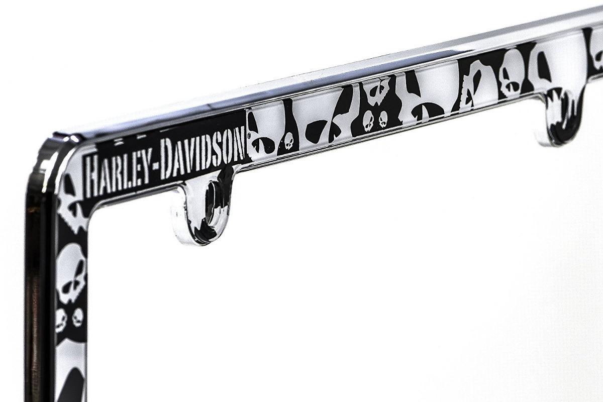 Marco Porta Placa Auto Harley Davidson Chroma 100% Original ...