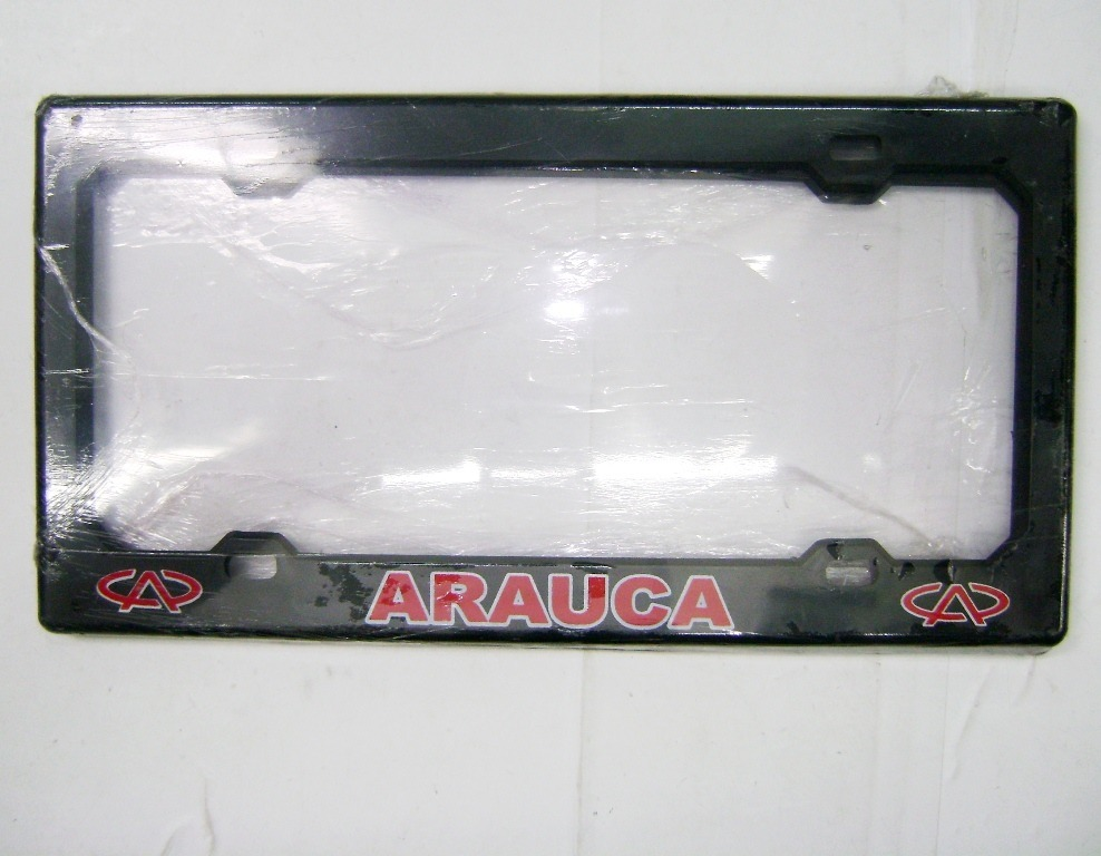 Marco Porta Placa Universal Plastico Chery Arauca 31/16 (par - Bs ...