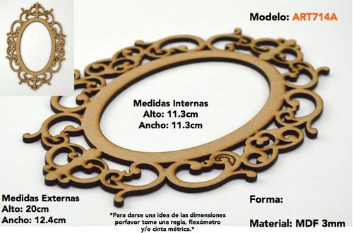 marco porta retratos vintage mdf fotos decoracion art712a
