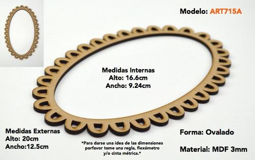 marco porta retratos vintage mdf fotos decoracion art714a