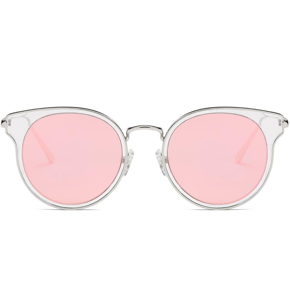 Marco Retro Sojos Gafas De Sol Redondas Círculo Doble Espejo ...