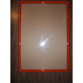 Marco Rojo Para Diplomas Con Su Vidrio Medidas: 51 Cm X 37,5
