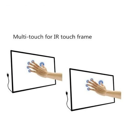 marco táctil, ir touch, 10 multitouch 55