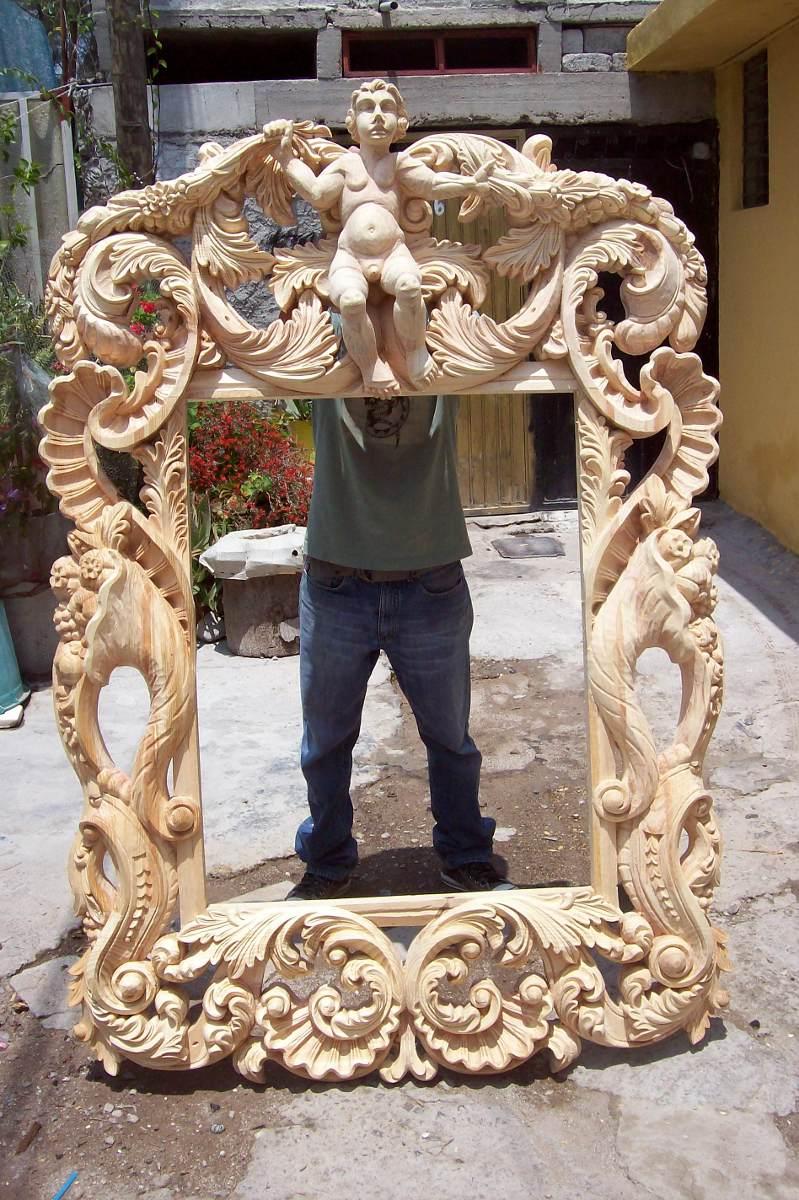 Marco Tallado A Mano Somos Fabricantes 9 000 00 En Mercado Libre # Muebles Tallados A Mano