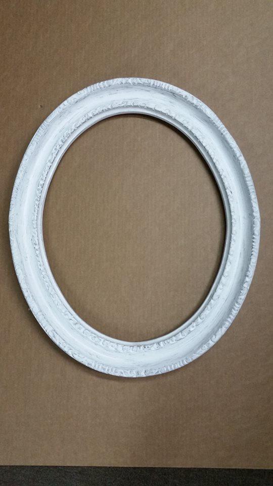 Marco Vintage Ovalado Blanco Desgastado Para Foto 16x20 - $ 889.00 ...