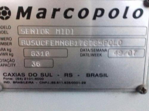 marcopolo senior urbano ano 07/08 mercedes of 1418!ref 161