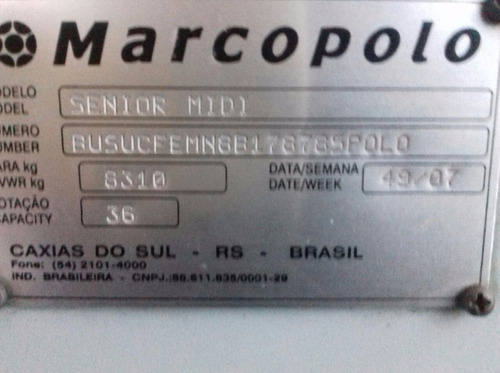 marcopolo senior urbano ano 07/08 mercedes of 1418!ref 164