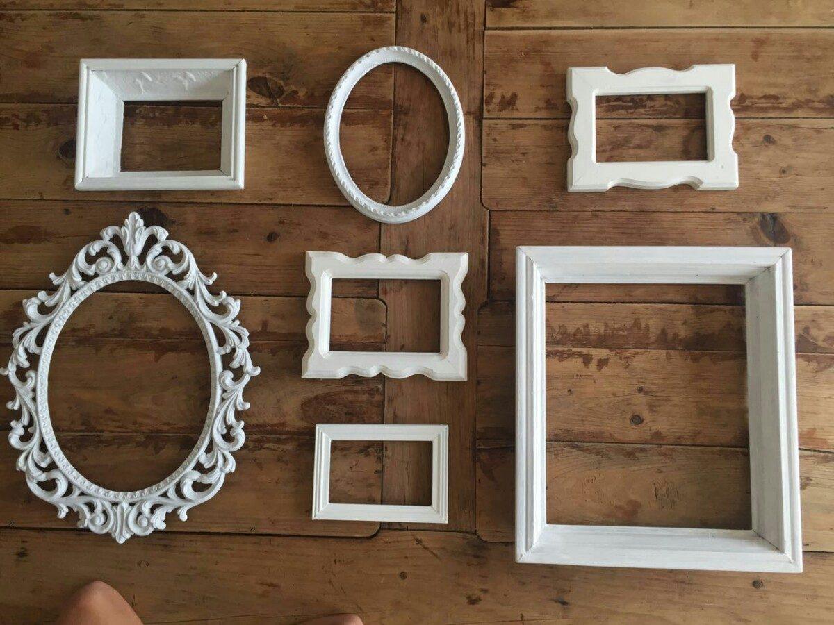Decoraci n con marcos antiguos vintage 1 en - Decoracion de marcos para fotos ...