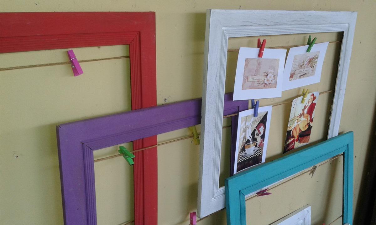 Marcos de fotos para colgar amazing diy marcos ligeros - Marcos de fotos para colgar ...