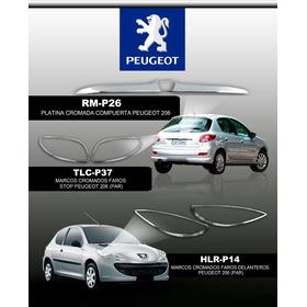 Marcos Cromados Faros Stop Peugeot 206 (par)