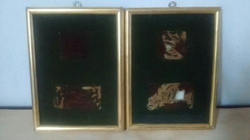 marcos de madera hoja de oro pequeños