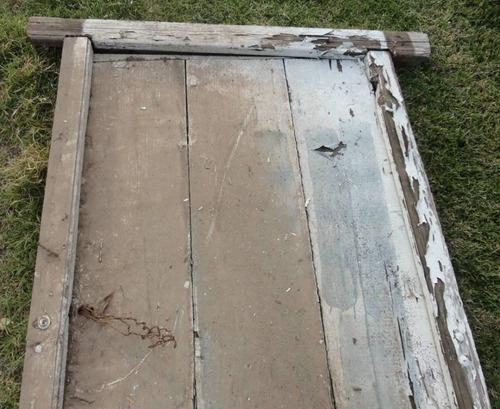 marcos de pinotea con puertas de tablas