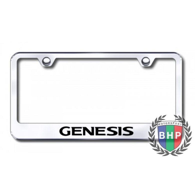 Marcos De Placa Hyundai Genesis De Acero Inoxidable Cromado