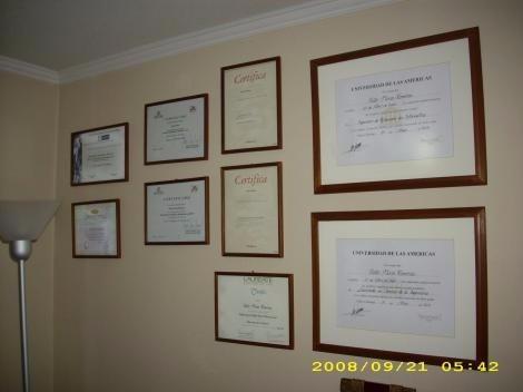 marcos diplomas , titulos, certificados / obsesionate