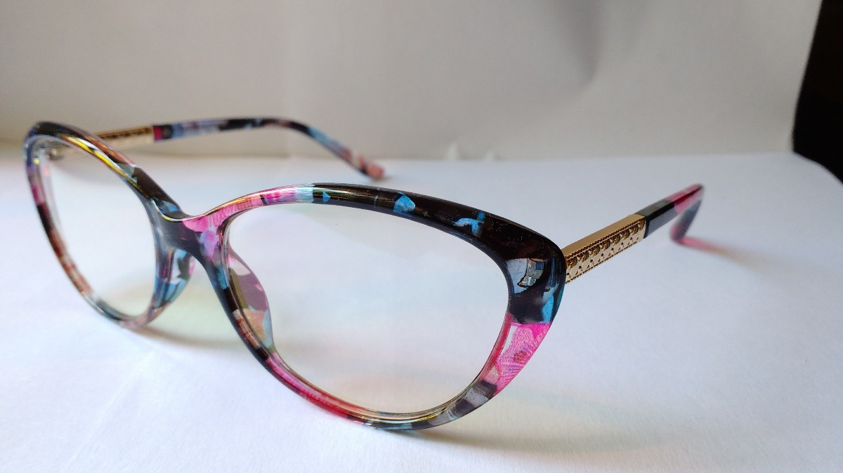 748aad94eb marcos lentes ópticos vintage cats eye colorful print nuevos. Cargando zoom.
