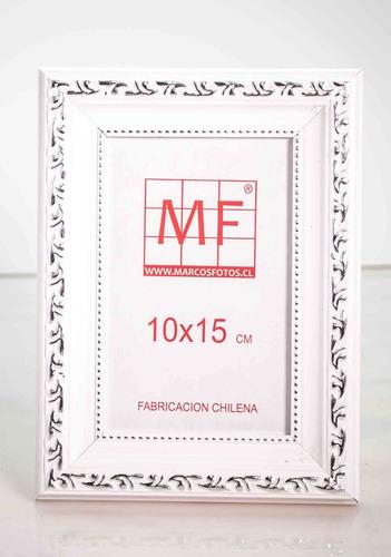 marcos para fotos 10x15 greca blanca  /tienda marcosfotos