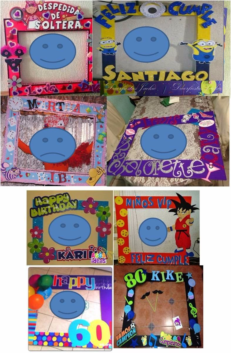 Marcos Personalizados Para Fiestas Base De Carton - Bs. 5.000.000,00 ...