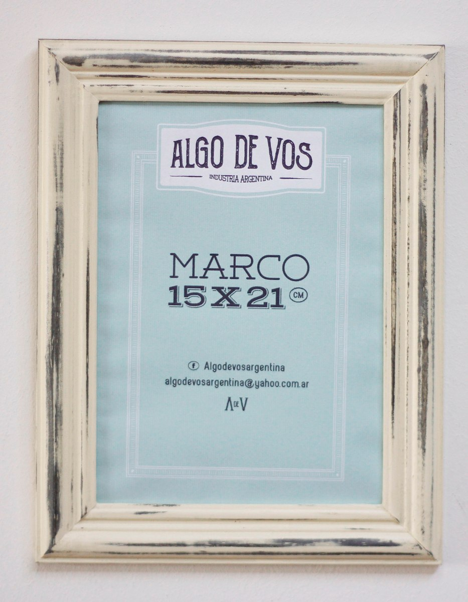 Marcos Vintage Varilla Italiana Baja Tamaño 15x21cm - $ 132,00 en ...