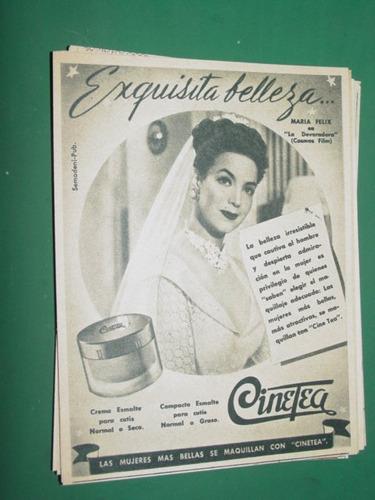 maria felix publicidad cinema maquillaje cremas cinetea