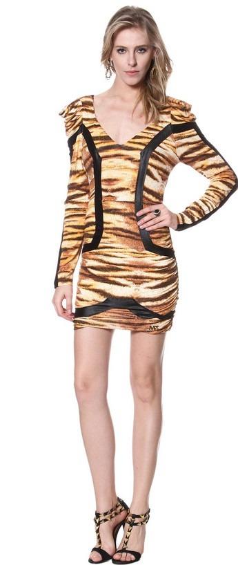 0496ea8ae Maria Gueixa Vestido Reto Animal Print. Frete Gratis - R$ 199,99 em ...