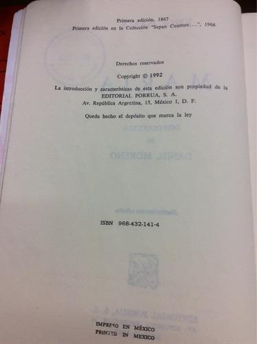 maría - jorge isaacs - editorial porrua - méxico - 1992
