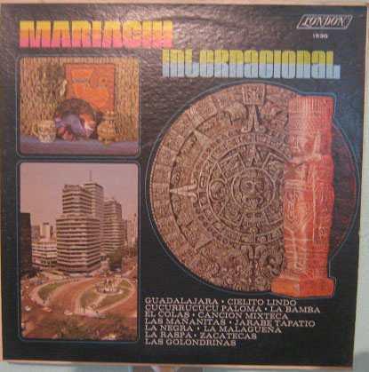 mariachi internacional - 1970 lp importado méxico