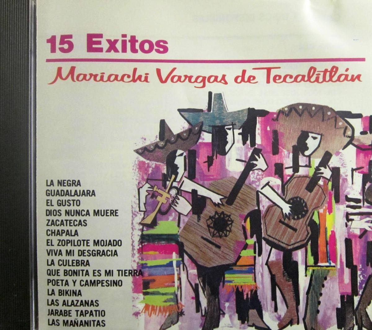 Mariachi Vargas De Tecalitlan 15 Exitos 149 00 En Mercado Libre