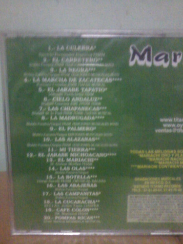 mariachi vol. 2. 20 kilates musicales. cd.