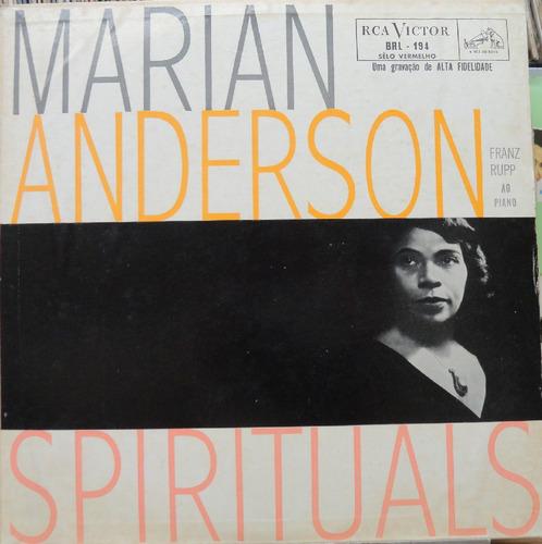 marian anderson franz rupp spirituals - lp rca victor