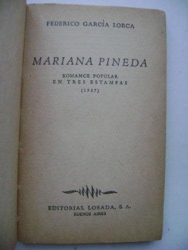 mariana pineda (romance popular)  / federico garcía lorca