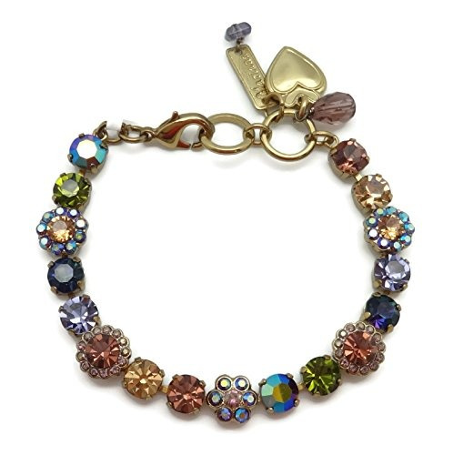 mariana swarovski crystal pulsera plateada de oro inglés mos
