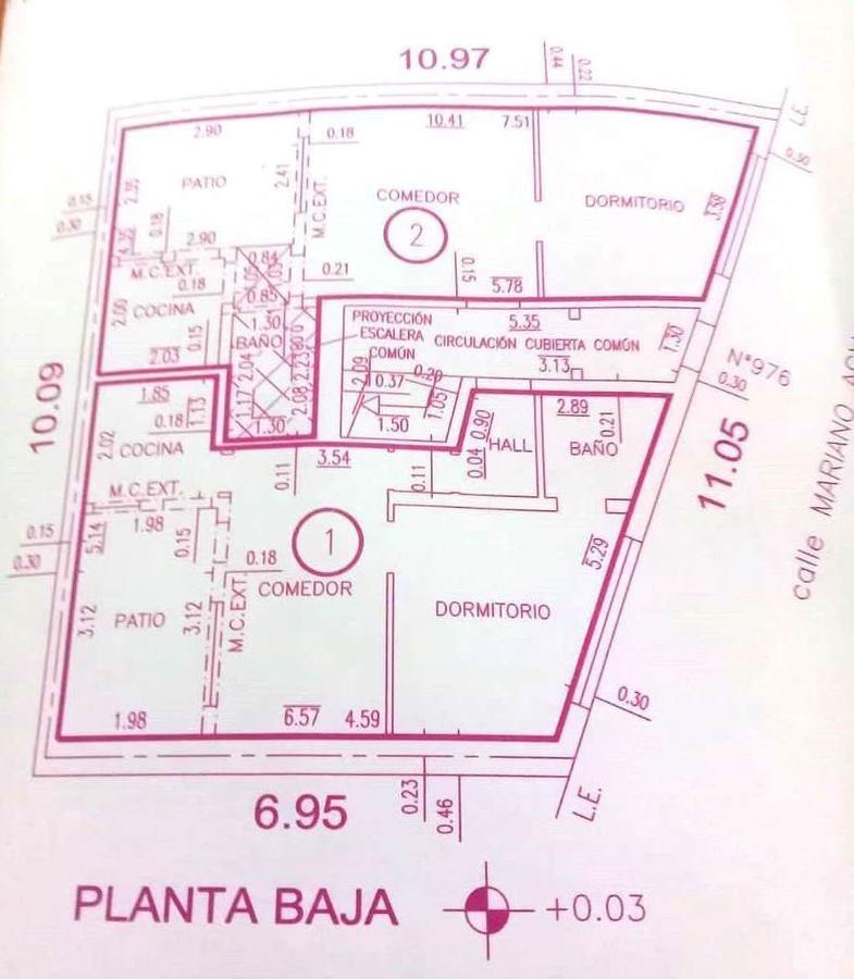 mariano acha 900 v. ortuzar excelente ph 2 amb al frente con patio a nuevo. sin expensas.