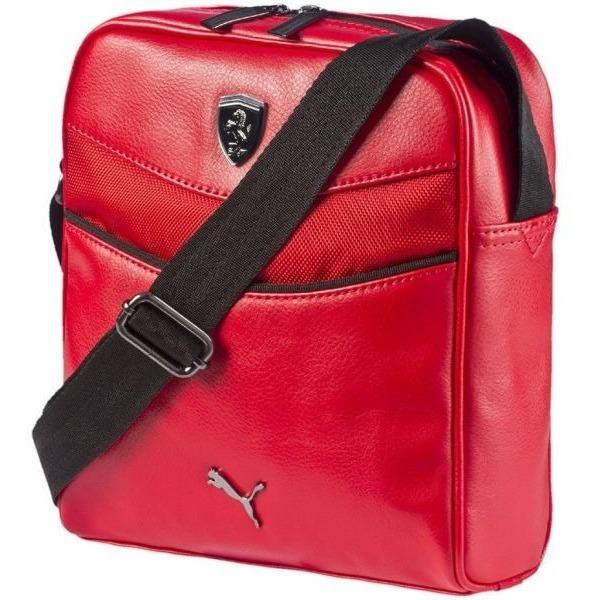 diferentemente 91562 2160c Mariconera Ferrari Puma Roja Original Hombre Bandolera