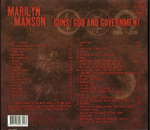 marilyn manson- 2 cd guns,god and government-nuevo stock