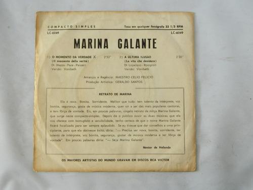 marina galante 1967 o momento da verdade -  compacto ep 10