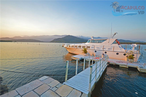 marina guarujá - alto padrão - 5590 área de terreno - pier p/ embarcações de até 100 pés !!! - ca0003