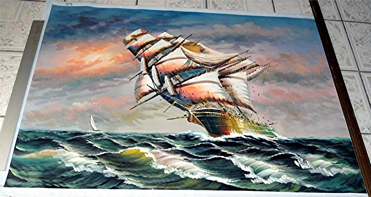 Marina Pintura Al Oleo En Medidas 90 X 120 Cm 2 680 00 En