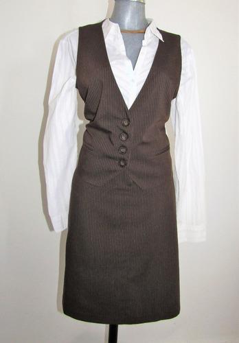 maringo. traje ejecutivo 2 pzas. falda y chaleco t/ grande