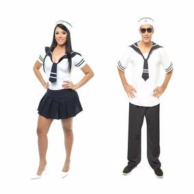 9fe155953 Fantasia Marinheira Adulta Feminina no Mercado Livre Brasil