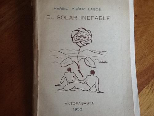 marino muñoz lagos - el solar inefable firmado dedicado 1952
