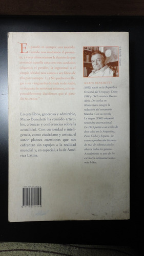 mario benedetti. perplejidades de fin de siglo. sudamericana