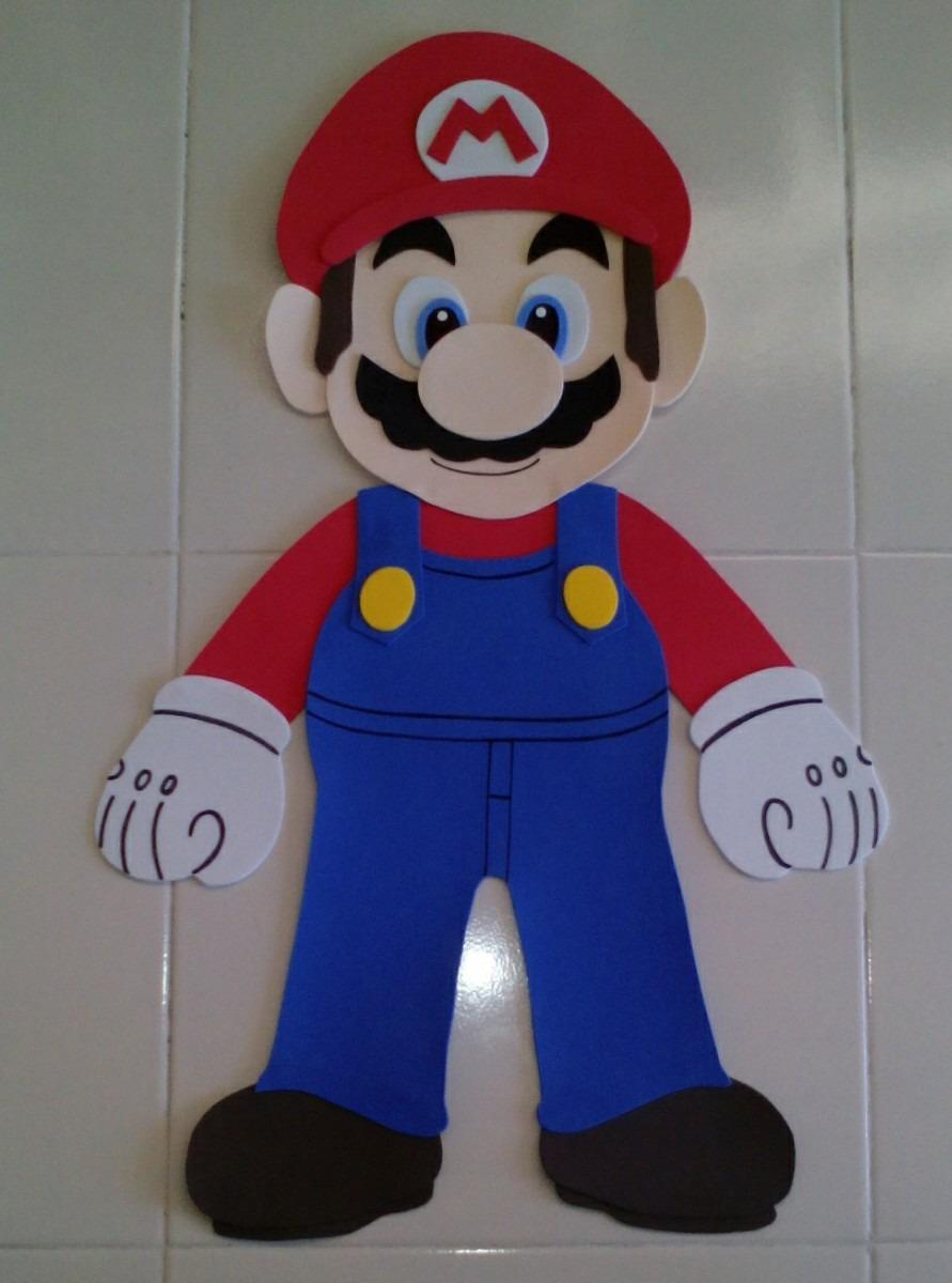 Mario Bros Fomi Figura Decoración Mario Bros Fiesta ...