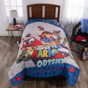 Edredon De Mario Bros.Mario Bros Odyssey Edredon 2 Plazas Original Jesus Maria