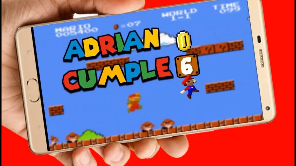 Mario Bros Vídeo Tarjeta Invitación Digital Cumpleaños