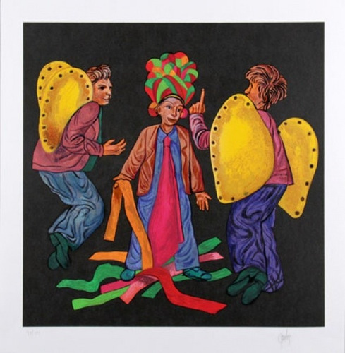 mario gruber - serigrafia - fantasiados - 3s arte