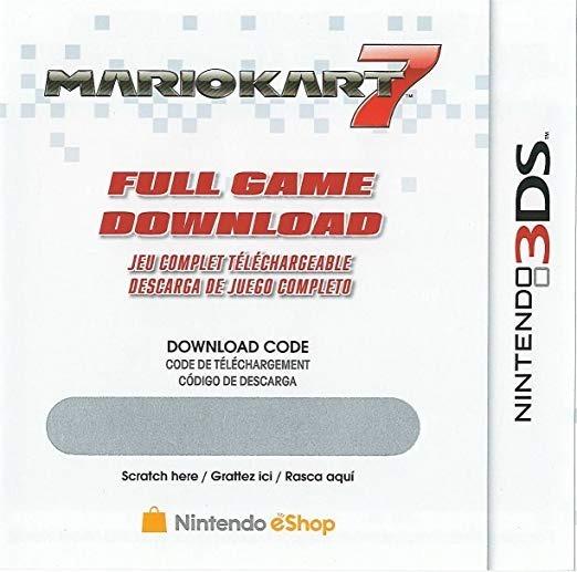 Mario Kart 7 Codigo De Descarga De Juego Nintendo 3ds 500 00 En